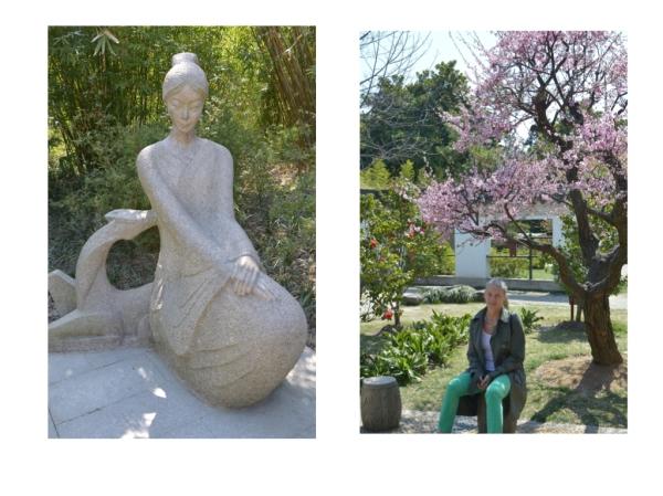 Zwei Grazien im Guyi Garten