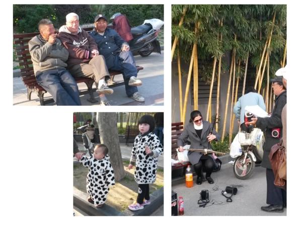 Im Luxan Park trifft sich Jung und Alt zum Spielen, Reden, Musizieren