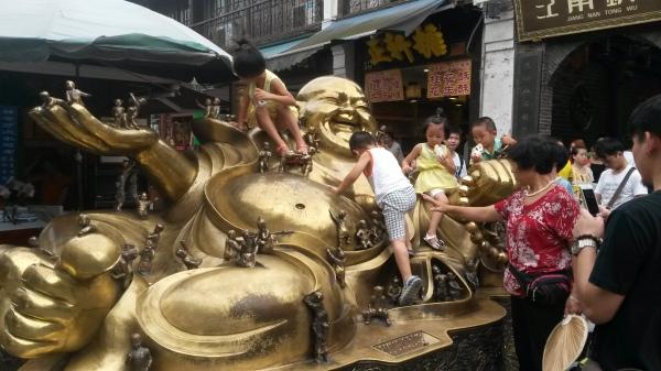Ein kinderfreundlicher Buddha
