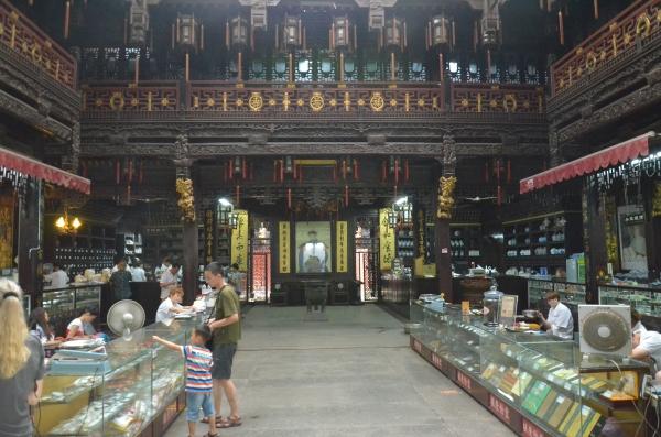 Blick in die alte Chinesische Apotheke (noch im Betrieb)